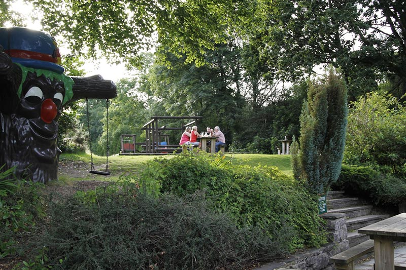 Garden and play area